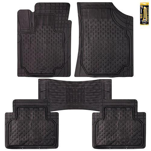 Коврики PVC  KY-16128A BK 5шт./компл. черные 71,5x51,5/69х55,5  58x51,5 50х23 (KY-16128A BK)